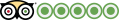 tripadvisor icon with 5 balls
